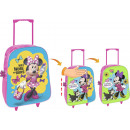 wholesale Kids Vehicles: Fixed trolley with wheels Minnie sequined rev