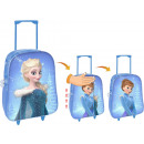 wholesale Kids Vehicles: Fixed trolley with wheels frozen Elsa and Ana with