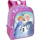 wholesale School Supplies: Backpack frozen 5D effect vision with pocket. - 3