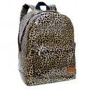Yellow Animal Print backpack with pocket. - 30