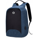 Blue multifunction backpack material polyester res