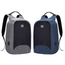 Assorted gray and blue multifunction material back