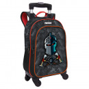 Adaptable backpack with 4-wheel swivel trolley