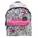 Flowers backpack with pocket. - 30 X 42 X 14 CM.