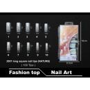False nails 2001 long square nail tips (NATURE)