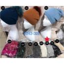 Bonnet femme avec fourrure véritable en 11 couleur
