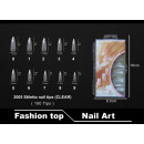 Faux ongles 2005 Stiletto Nail Tips (CLEAR)