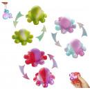 Reversible octopus pop it keychain