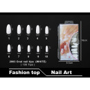Faux ongles 2003 Bouts d'ongles ovales (BLANC)