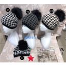 Ladies hat with latest plaid design
