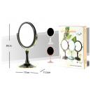 Cosmetische tafelblad spiegel dubbelzijdig 3 kleur