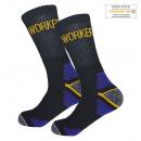 groothandel Kleding & Fashion: Heren Katoenen Werksokken met Anti-Slip SK-102-Bla