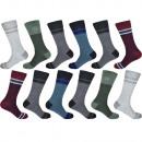 Chaussettes en coton pour hommes à rayures SK-205