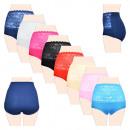 Großhandel Fashion & Accessoires:-Damen-Baumwoll Slip mit hoher Taille und Spitze 60