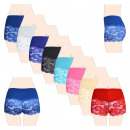 Ladies Cotton Boxer Shorts with Lace 8139