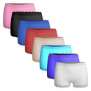 Ladies Microfiber Boxer Shorts with Lace 3002