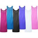 Luxus Nachthemd Schlafkleid ohne Ärmel 1102