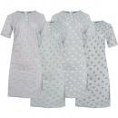 Camicia da notte in cotone da donna manica corta 6
