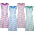 Damen Baumwoll Nachthemd ohne Ärmel 6792