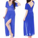 Dames Sexy Longue Robe De Nuit Babydoll avec Strin