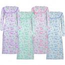 Camicia da notte in cotone foderata da donna manic