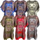 Großhandel Fashion & Accessoires: Damen Satin Beach Kaftan Kleid SD-02