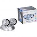 groothandel Verlichting: Sensor dubbele lamp LED zilver