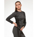 Thermal functional shirt women, seamless - gray