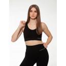 Sports bra, bra light support, racerback - black