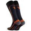 Compression sports socks, black-neon orange