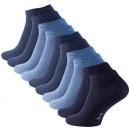 Essentials sneaker socks - shades of blue