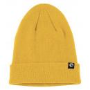 Unisex knitted hat with inner fleece - mustard yel