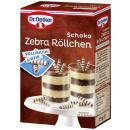 Dr. Oetker chocolade zebra rolls, 75g doos