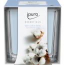 grossiste Cadeaux et papeterie: Bougie parfumée champs de coton Ipuro, pot 125g
