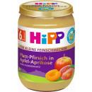 Hipp platt-pfir Apfel apr6m, 190g Glas