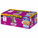 wholesale Pet supplies: Whiskas 1 + ragout fish jelly, 40x85gbag