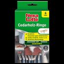 wholesale Decoration: nexa lotte cedar wood rings, box of 6