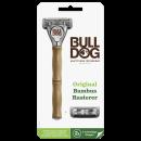rasoio bulldog manico in bambù, confezione da 1