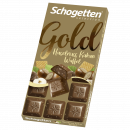 schogetten gold hazelnut cocoa wafer., 100g