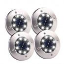 nagyker Kert és barkácsolás: DISK LIGHT 8 LED Szolár földlámpa 4 db