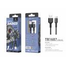 Micro Usb Cable 2.4A 1.5M Black