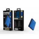 Powerbank 5000Mah 2A 2Usb Blue