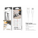 Cable Usb Type C 1M 2.4A White