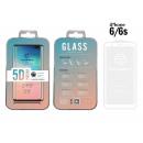 Edzett üveg fólia Ip 6 / 6S 5D Fullcover Fehér