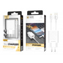 Charger With Cable For Ip 2.4A 1M 2Usb White
