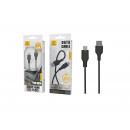 Micro Usb Cable Pvc 2A 1M Black