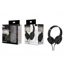Zwarte microfoon draadloze hoofdtelefoon