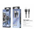 Cable Micro Usb2M 2A Black