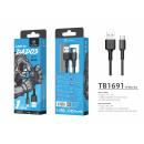 Usb Cable Type C 2.4A 1.5M Black