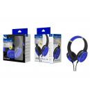 Auriculares inalámbricos con micrófono azul